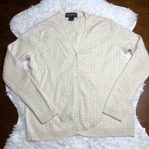 Brooks Brothers Cashmere/Silk Button Cardigan